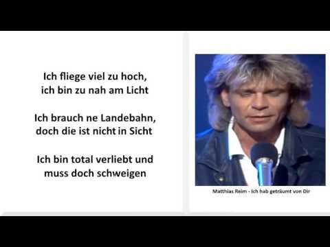 Matthias Reim - Ich hab geträumt von Dir mit Lyrics