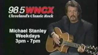 98 .5  W N C X  CLEVELAND OHIO.. MICHAEL STANLEY...DAVID LEE ROTH