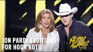 2018 CMT Music Awards | Jon Pardi Auditions for Hoda Kotb
