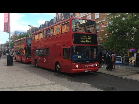 Stagecoach London 17877 LX03NGF route 136 (Overrevving beast)