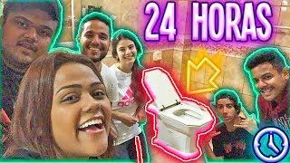 24 HORAS NO BANHEIRO !!!
