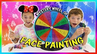 MYSTERY WHEEL OF FACE PAINTING | We Are The Davises