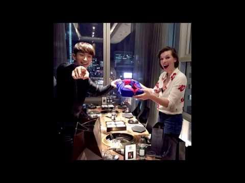 Lee Joon Gi Milla Jovovich Resident Evil Team Bbq In Seoul