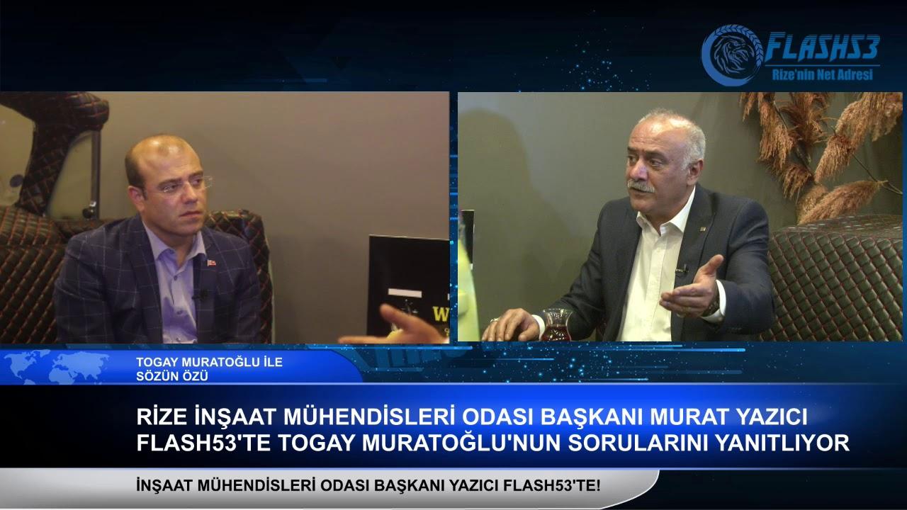 Rize İNşaat Mühendisleri Odası Başkanı Murat Yazıcı'dan 'Yeşil Yol Projesi' açıklaması