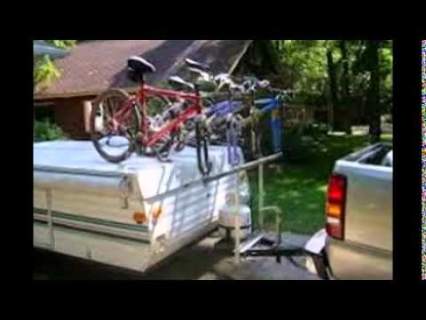 Popup Camper Bike Rack Youtube