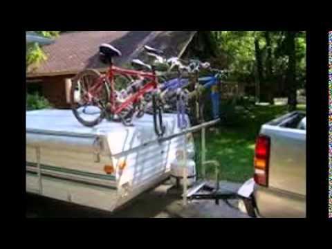 Popup Camper Bike Rack Youtube