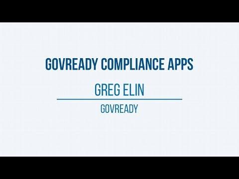 2017 R&D Showcase: GovReady Compliance Apps