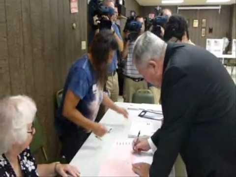 43rd Senate District primary candidates vote