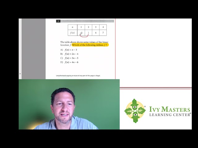 SAT Math, Test 3, Section 4, Number 4