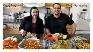 HOW TO MAKE A THANKSGIVING VEGAN FEAST!! | COOKIN' WITH THE FLANNY'S!