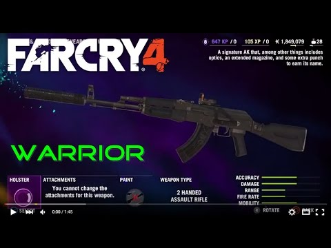 Far Cry 4 Signature Weapons Warrior Assault Rifle Youtube