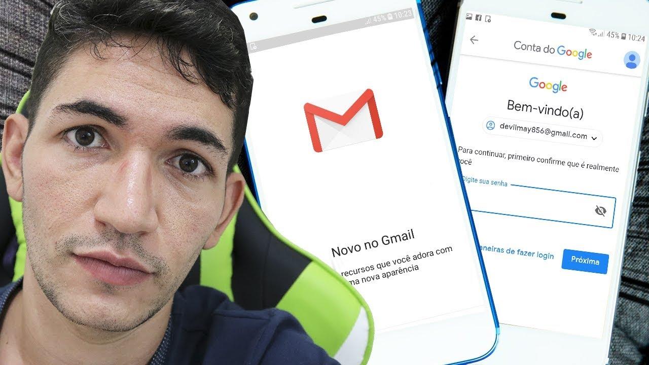 Como Alterar A Senha Da Conta Do Gmail Youtube