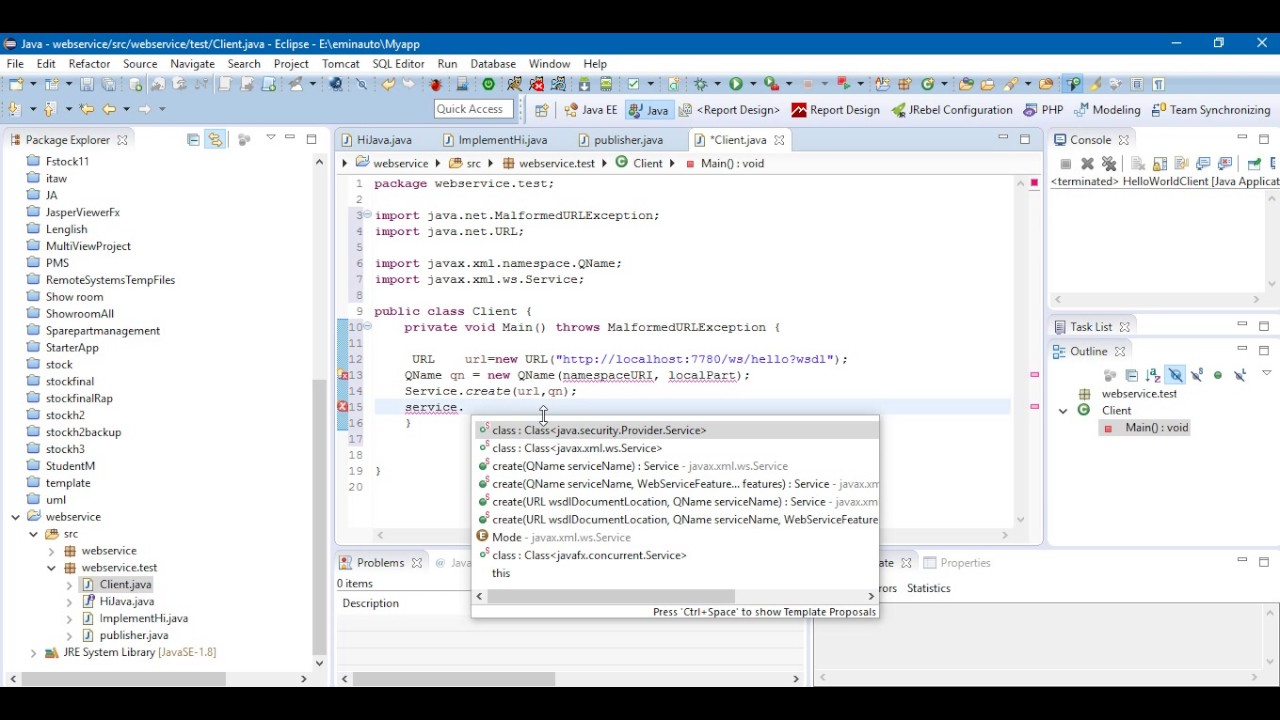 Jax Ws Example Rpc Style Web Service Youtube