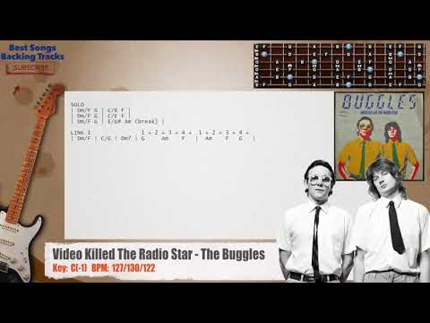 Video Killed The Radio Star - The Buggles Guitar Backing Track with chords and lyrics