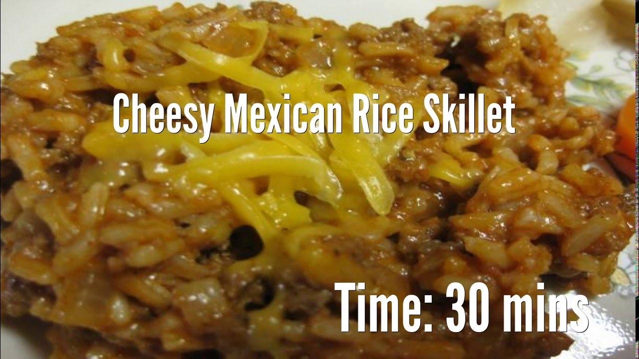 Cheesy Mexican Rice Skillet RecipeYouTube