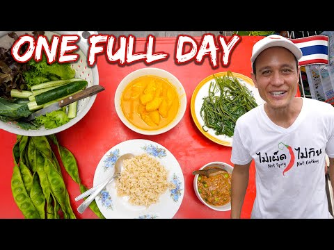A Day In The Life of a Food Vlogger  EVERYTHING I Eat in One Day at Home  Bangkok, Thailand!!