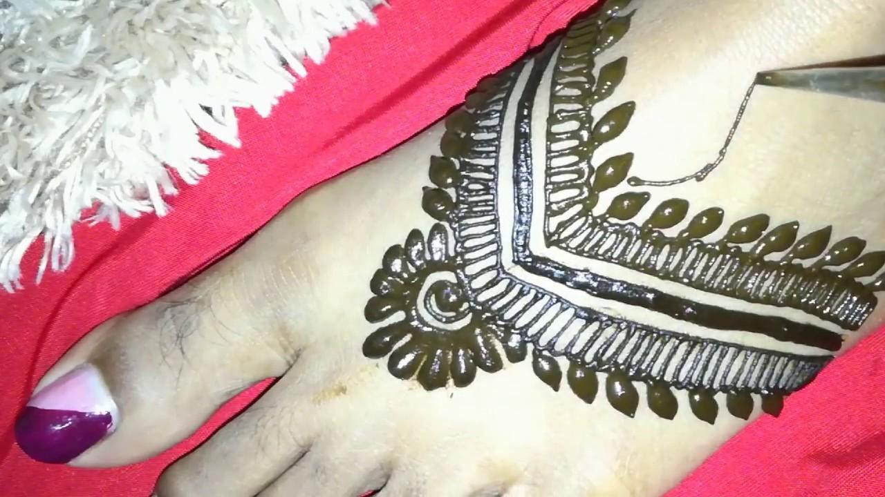 Beautiful Simple Mehndi Designs For Foot Simple Henna Designs