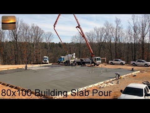 Pouring a 80 x 100 Metal Building Slab
