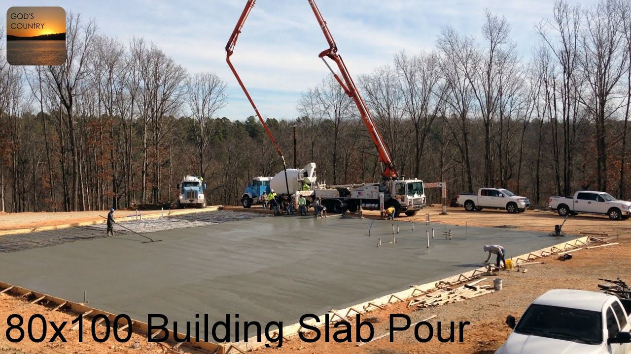 pouring a 80 x 100 metal building slab youtube. Black Bedroom Furniture Sets. Home Design Ideas