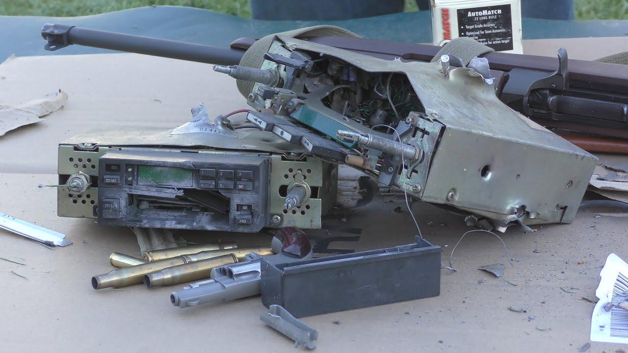 Will 2 1980's Car Radios Stop A Bullet?