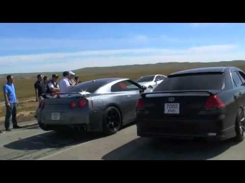 Super Car's Drag Race in Mongolia