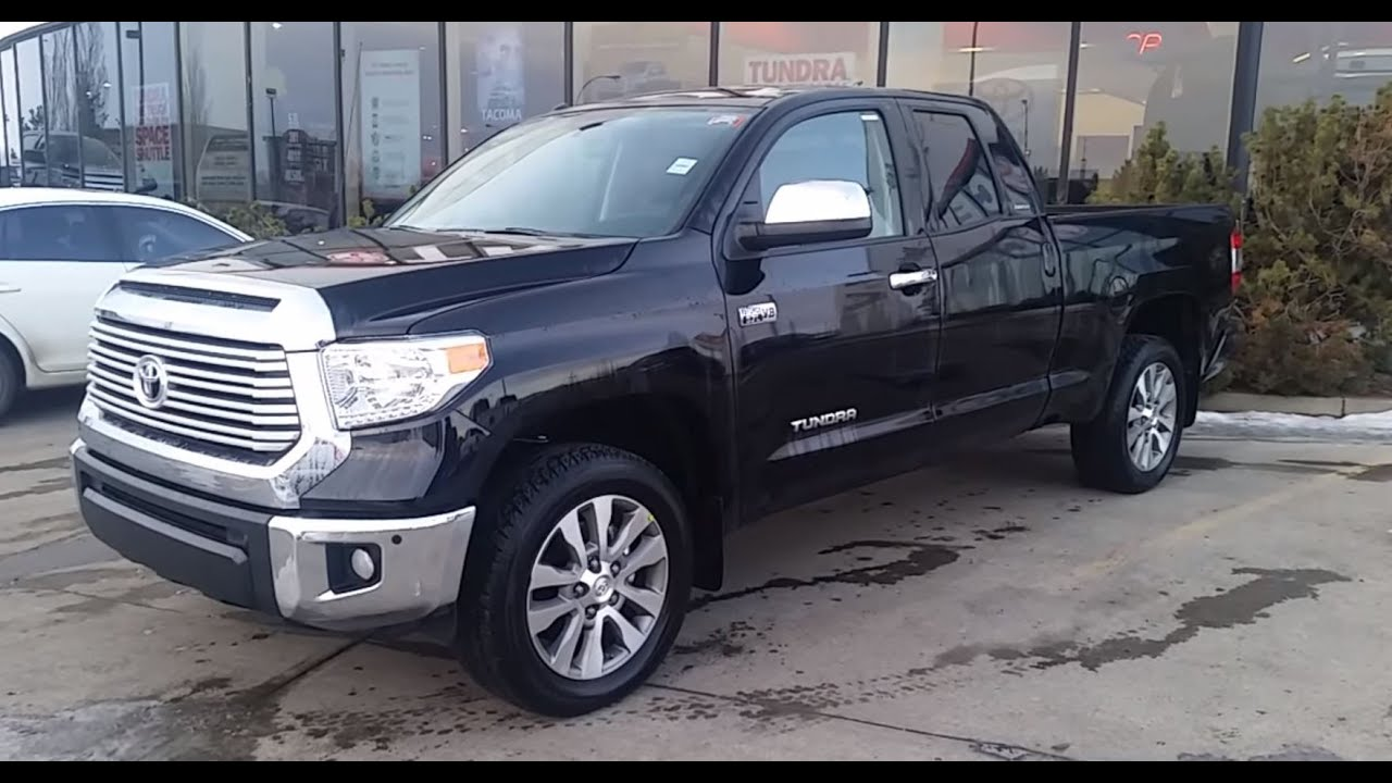2017 toyota tundra double cab limited 5.7l 4x4 review and walk