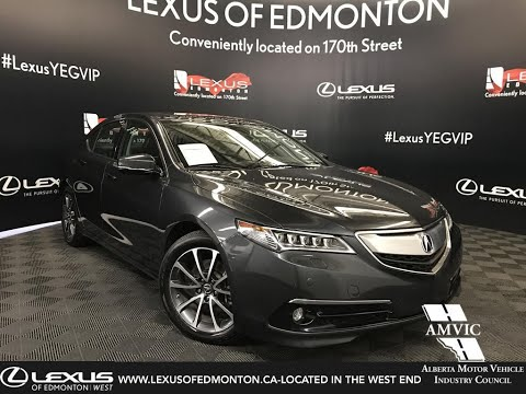 Used Grey 2016 Acura TLX V6 Elite Walk Around Review - Beaumont, Alberta, Canada