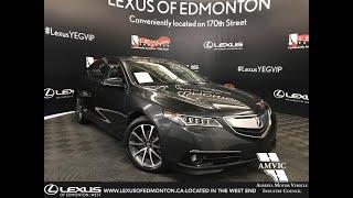 Used Grey 2016 Acura TLX V6 Elite Walk Around Review - Beaumont, Alberta, Canada