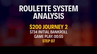 STRATEGY APPLICATION - REAL MONEY - $200 Journey 2 - Part 7