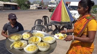 Eating Rice with 4 Boiled Egg - Sponge Gourd Vegetables - Eating Show Of Indian Food