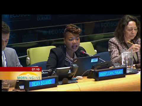 Africa youth activists attend the annual Youth Forum at UN