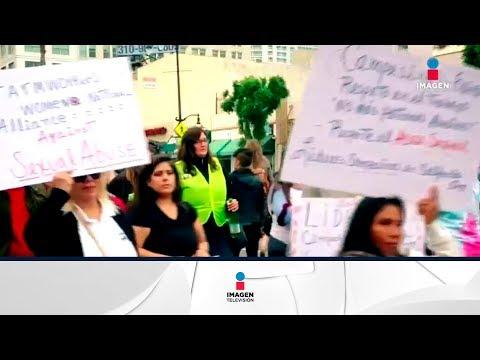 Marchan en Hollywood contra acoso sexual | Noticias con Francisco Zea