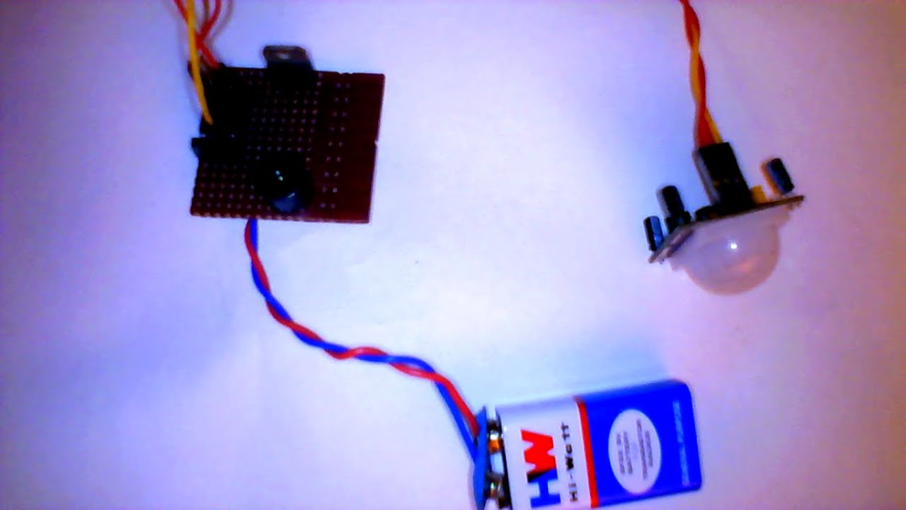 Motion Sensing Using Attiny85 By Arduino And Pir Sensor Diagram Youtube