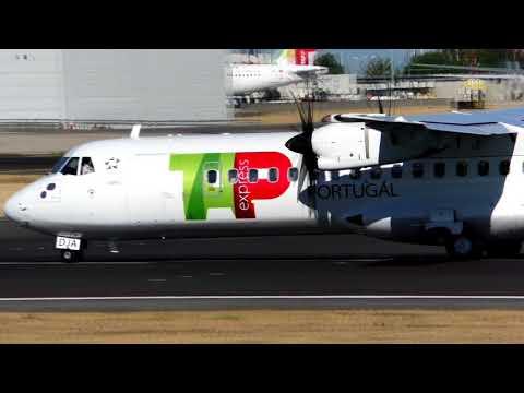 TAP Express ATR72-600 takeoff Lisbon Airport CS-DJA