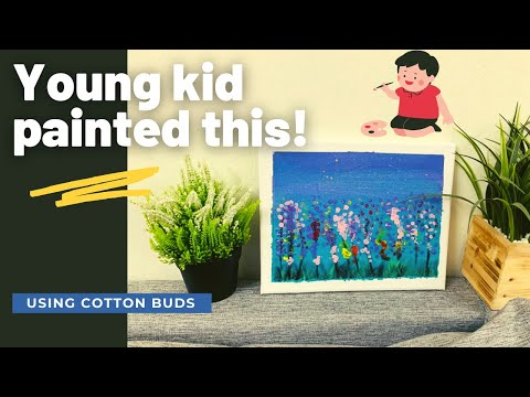 kids painting easy | painting ideas for kids | canvas painting landscape