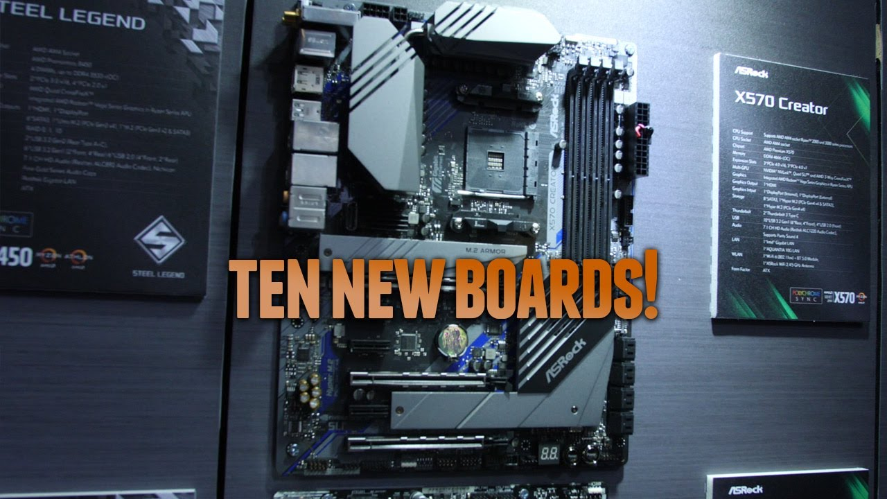 A Quick Look At NEW ASRock X570 Motherboards