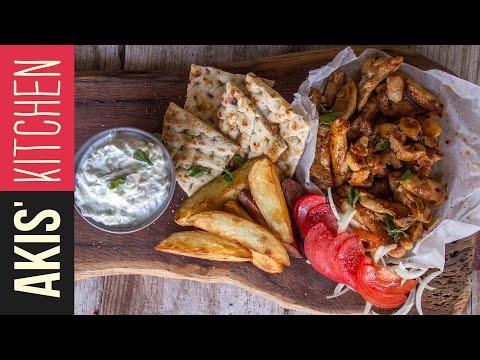 Greek Chicken Gyro | Akis Petretzikis