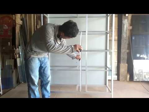 How to set up a cupboard in the kitchen will install glass (part 1)