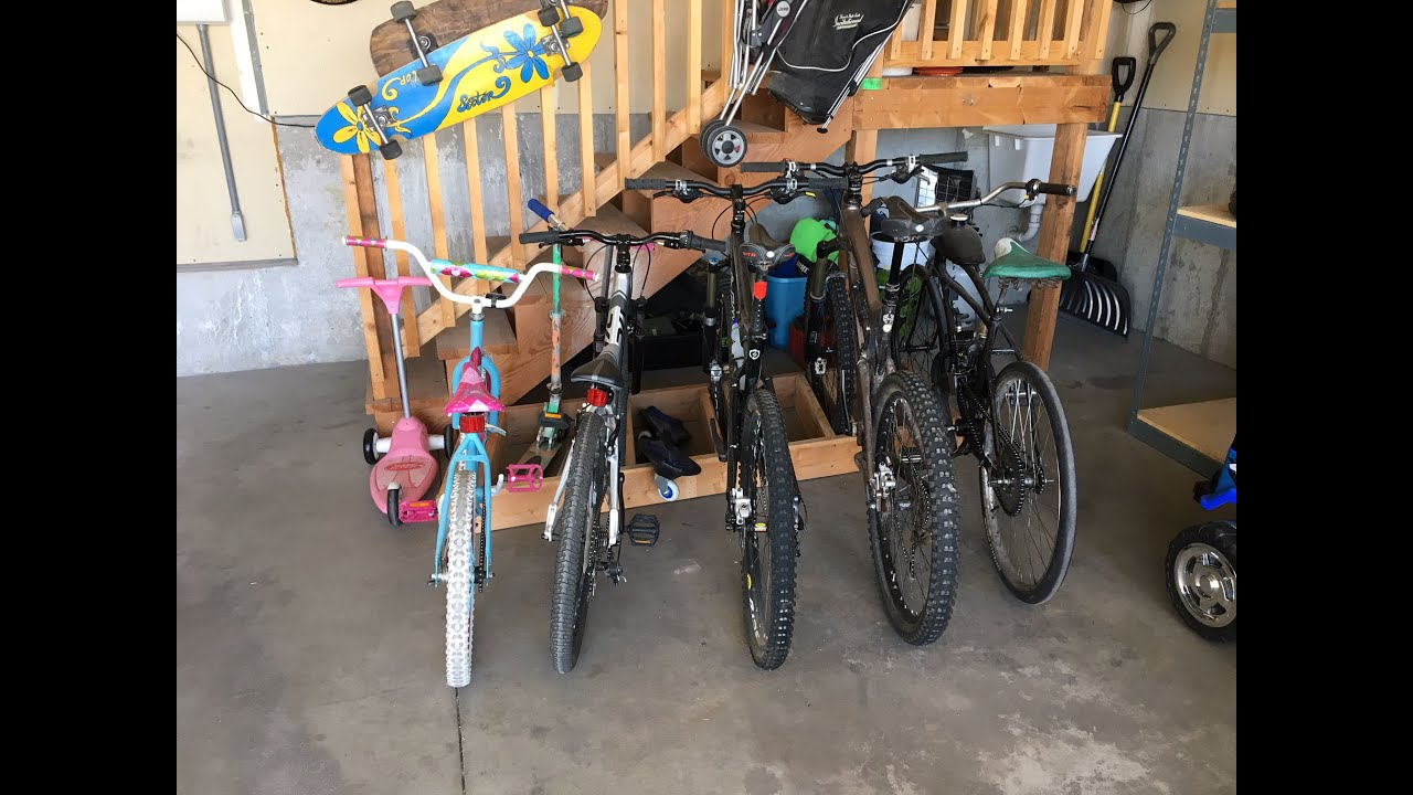 garage storage diy bike how rack mounted wall