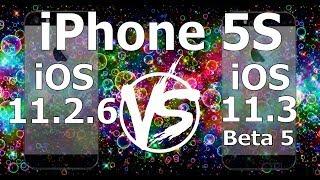 iPhone 5S : iOS 11.3 Beta 5 vs iOS 11.2.6 Speed Test Build 15E5211a