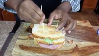 Cooking Justin's Smoked Turkey And Ham Boogie Down Club Sandwich With Jimmy L Anderson