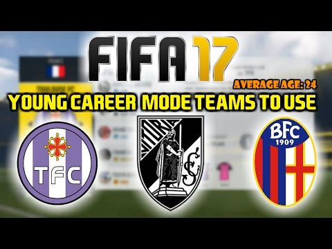 FIFA 17: BEST YOUNG CAREER MODE TEAMS TO USE (Average Age 24!)