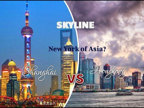 Shanghai    vs  Hongkong   I   SKYLINES   I  HD drone shot I  NY of ASIA?