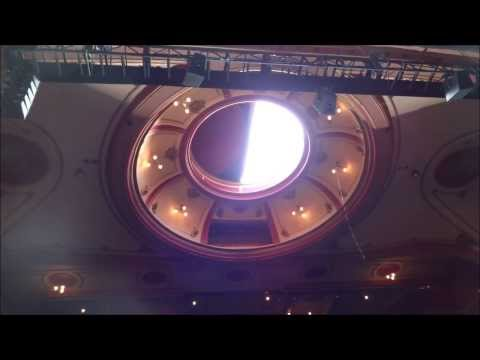Frank Matcham's Bristol Hippodrome Retractable Roof in operation - Christmas Eve 2013