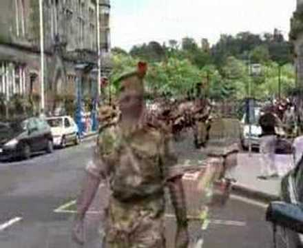Black Watch marching in to town
