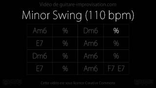 Minor Swing (110 bpm) : Backing track