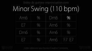 Minor Swing (110 bpm) : Backing track (guitare électrique)