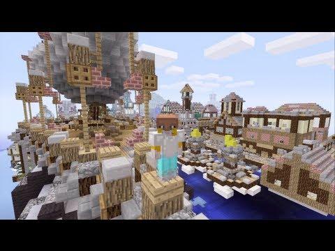 Minecraft Xbox - Floating City - Swordlock City Tour - Part 5