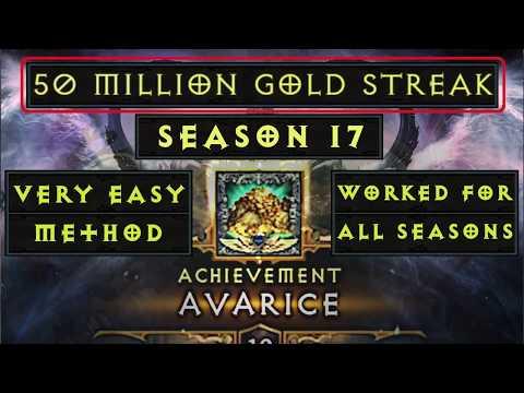 Diablo 3- S17- Avarice Conquest- Easiest Method- 50 million