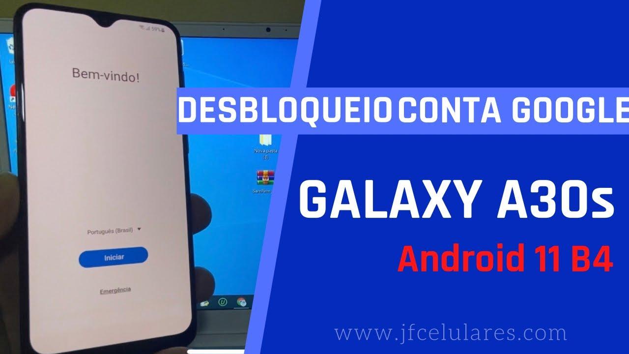 Como desbloquear conta Google Galaxy A30s, Android 11, copiar contas não funciona